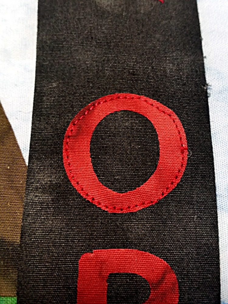 Letter stitching