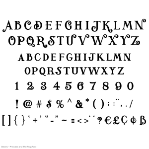 Disney-princess-and-the-frog-font-all-images