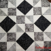 Block One of Black and White Quilt